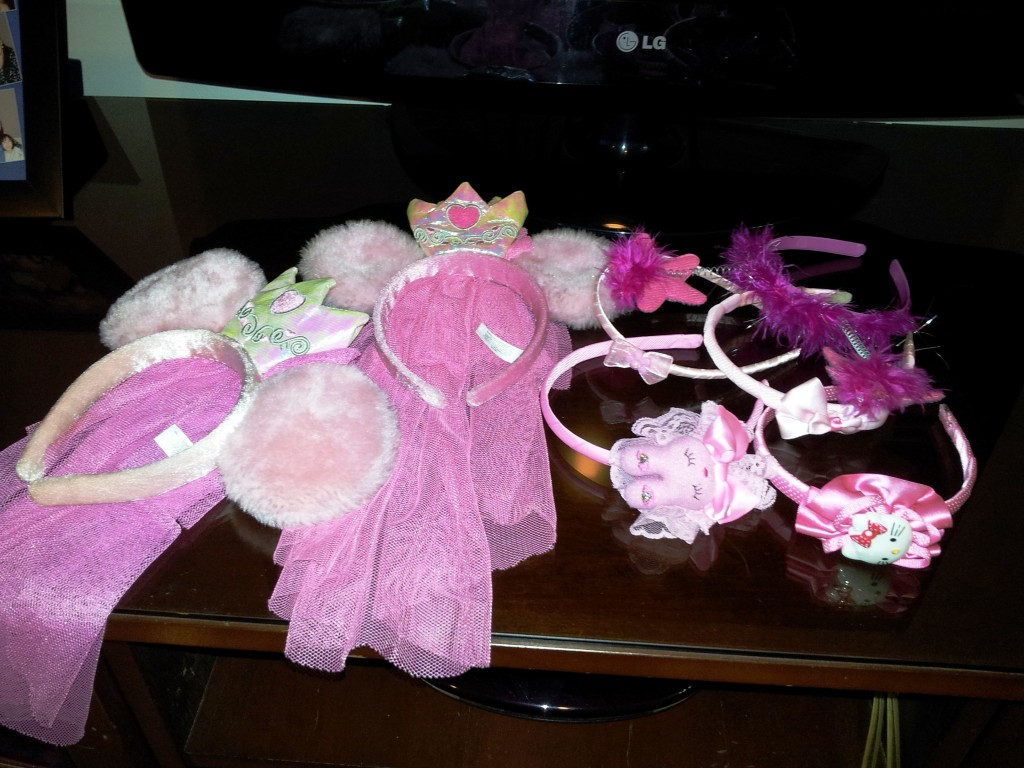 pink hair ties