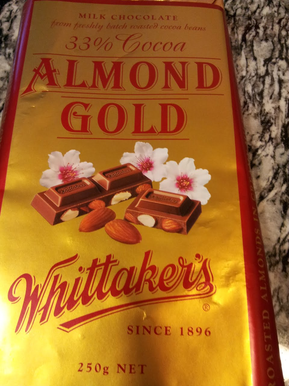 Health Freak Mommy Whittakers Almond Gold Chocolate Bar
