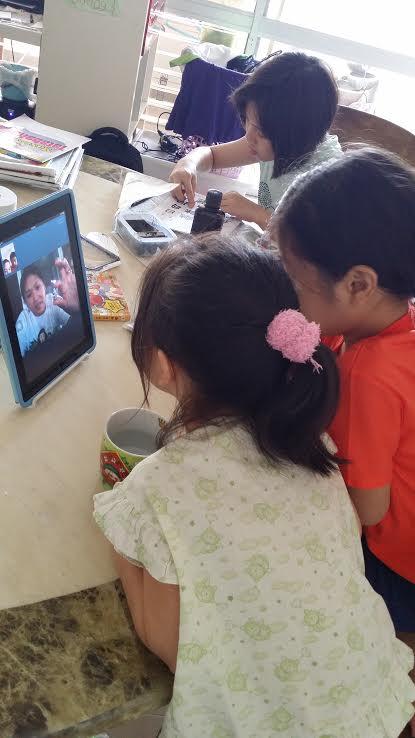 skype with Sarah 15 Mar